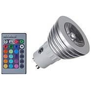3W E14 GU10 GU5.3 (MR16) GU5.3 LED-spotlampen MR16 1 COB 300 lm RGB Decoratief Dimbaar Op afstand bedienbaar AC 85-265 V 1 stuks