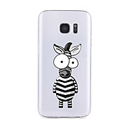 For Samsung Galaxy S7 Edge S6 Transparent Pattern Case Back Cover Case Cartoon Zebra Soft TPU for S7 S6 edge plus S6 edge S6 Active S5 S4