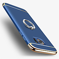 For Belægning Ringholder Etui Bagcover Etui Helfarve Hårdt PC for Samsung S7 edge S7