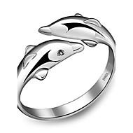 Damskie Pierscionek Korygujący Otwarte Stop Animal Shape Delfin Biżuteria Na Codzienny Casual