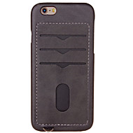 For Kortholder Etui Bagcover Etui Helfarve Hårdt Kunstlæder for Apple iPhone 7 Plus iPhone 7 iPhone 6s Plus/6 Plus iPhone 6s/6