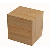 raylinedo® dernière conception mode bambou bois cube mini-led verte température affichage de la date de bois réveil numérique - voix et le