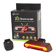 Fietsverlichting LED Laser LED Wielrennen Afstandsbediening Waterdicht Super Light Lithium Batterij 80 Lumens Batterij Fietsen Voor buiten