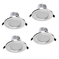 z®zdm 4pcs 5W dimmable conduit downlights blanc chaud / blanc froid / blanc naturel AC12V AC110 / 220V