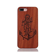 For Shockproof Embossed Pattern Case Back Cover Case Anchor Hard Rosewood and PC Combination for Apple iPhone 7 7 Plus 6s 6 Plus SE 5s 5