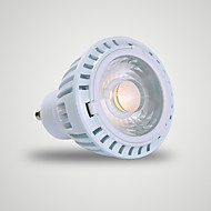 7W GU10 LED-spotpærer MR16 1 COB 520 lm Varm hvit AC 110-130 V 1 stk.