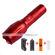 LED손전등 손전등 키트 LED 2000 루멘 5 모드 Cree XM-L T6 18650 AAA Himmennettävissä 조절가능한 초점 컴팩트 사이즈 줌이 가능한 캠핑/등산/동굴탐험 일상용 멀티기능