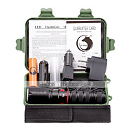 Belysning LED-Ficklampor Ficklampsuppsättningar LED 3000 Lumen 3 Läge Cree XM-L L2 18650 Justerbar fokusCamping/Vandring/Grottkrypning