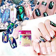 10pcs/set Nail Art tarra Veden siirto Decals Glitter & Powder 3D Nail Stickers meikki Kosmeettiset Nail Art Design