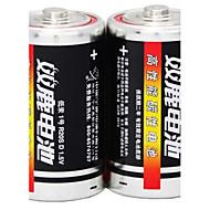 Shuanglu r20s d carbon zink batteri 1.5V 2 stk