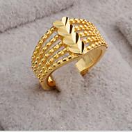 指輪 ゴールドメッキ 18K 金 ハート ファッション ゴールド ジュエリー パーティー 日常 カジュアル 1個