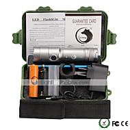 U'king ZQ-X906S#-EU XML T6 1000LM LED 5Modes Dimming Flashlight Torch Support DC Charging Battery AC Charger Bike Holer Kits