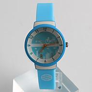Modieus horloge Kwarts / Silicone Band Vrijetijdsschoenen Blauw Blauw