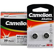 camelion AG10 Münze Knopfzelle Alkali-Batterie 1,5 V 40-Pack