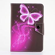 Mert Állvánnyal Flip Minta Case Teljes védelem Case Pillangó Kemény Műbőr mert Samsung Tab 4 7.0 Tab 3 7.0 Tab 2 7.0 Tab A 7.0