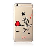 Voor Transparant Patroon hoesje Achterkantje hoesje Cartoon Zacht TPU voor AppleiPhone 7 Plus iPhone 7 iPhone 6s Plus/6 Plus iPhone 6s/6