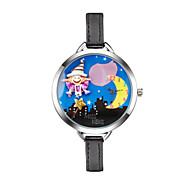 Dames Kinderen Modieus horloge Polshorloge Kwarts Vrijetijdshorloge PU Band Cartoon Zwart
