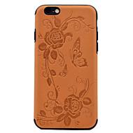 Varten Koristeltu Kuvio Etui Takakuori Etui Perhonen Pehmeä Tekonahka varten AppleiPhone 7 Plus iPhone 7 iPhone 6s Plus iPhone 6 Plus