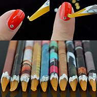 1PCS  Rhinestones Bead Picker Wax Resin Pencil Nail Art Dotting Tool Point Pen