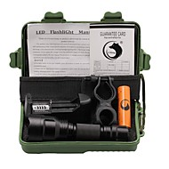 UKing ZQ-X1000#1-US Cree XM-L T6 2000LM 5Modes C8 Falshlight Torch Kit with Battery and Charger