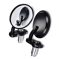Motorcycle SENCART Motorcycles Universal Round Bar End Convex Mirrors Inceased Vision For 7/8  Black Back Mirror