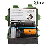 Valaistus LED taskulamput Taskulamppu-setit LED 2000 Lumenia 5 Tila Cree XM-L T6 18650 26650 Säädettävä fokusTelttailu/Retkely/Luolailu
