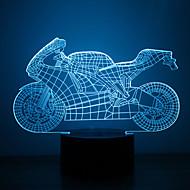 karácsonyi autó érintés fényerő 3d led éjszakai fény 7colorful dekoráció hangulat lámpa újdonság világítás karácsonyi fény