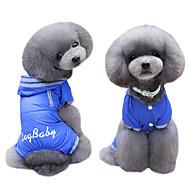 犬用品 コート パーカー レインコート ジャンプスーツ 犬用ウェア 冬 夏 春/秋 ブリティッシュ キュート ファッション ダークブルー フクシャ
