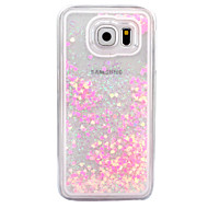 For Samsung Galaxy S6 S7 Case Cover Small Fresh Series Love Pattern Hard Side Quicksand Phone Case S4 S5 S6 edge S6 edge plus S7 edge