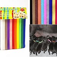 Katter Hundar Halsband Säkerhet Solid Nylon