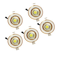 5w καλαμπόκι 220-240V θερμό λευκό οδήγησε φως προς τα κάτω εσοχή 5pcs οροφής