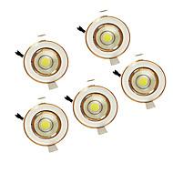 5W cob 220-240V warm wit led-licht naar beneden plafondinbouw 5pcs