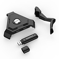 USB 3.0 cubo 4 da porta USB 2.0 com Mangement fio - preto