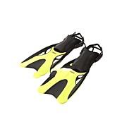 Diving Fins Long Blade Scuba Diving / Snorkeling Neoprene Yellow Blue
