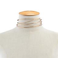 Dame Kort halskæde Smykker Enlig Snor Plastik Mode Personaliseret Euro-Amerikansk Guld Smykker For Daglig Afslappet 1 Stk.