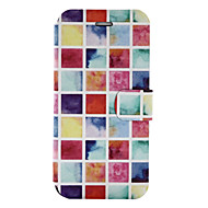 Για Θήκη καρτών με βάση στήριξης Ανοιγόμενη Με σχέδια tok Πλήρης κάλυψη tok Γεωμετρικά σχήματα Σκληρή Συνθετικό δέρμα για SamsungA5
