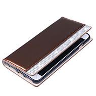 Για Πορτοφόλι Θήκη καρτών Στρας Ανοιγόμενη tok Πλήρης κάλυψη tok Μονόχρωμη Σκληρή Συνθετικό δέρμα για SamsungS7 edge S7 S6 edge plus S6