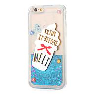 Για Στρας Ρέον υγρό Καθρέφτης Φτιάξτο Μόνος Σου tok Πίσω Κάλυμμα tok Λάμψη γκλίτερ Μαλακή TPU για AppleiPhone 7 Plus iPhone 7 iPhone 6s