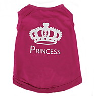 Cat Dog Shirt / T-Shirt Dog Clothes Casual/Daily Fashion Tiaras & Crowns Rose