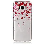 Varten IMD Läpinäkyvä Kuvio Etui Takakuori Etui Sydän Pehmeä TPU varten Samsung S8 S8 Plus S7 edge S7 S6 edge S6 S5
