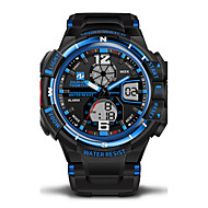 Men's Sport Watch Military Watch Japanese Quartz LED LCD Calendar Water Resistant / Water Proof Dual Time Zones Alarm Stopwatch