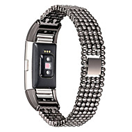 For Fitbit Charge 2 Luxury Steel Bead Style Smart Watch Band Fashion Replacement Women Female Wrist Strap Bracelet