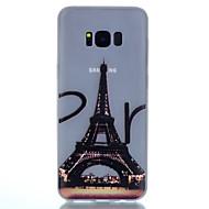 Varten Hehkuu pimeässä Himmeä Läpinäkyvä Kuvio Etui Takakuori Etui Eiffelin torni Pehmeä TPU varten SamsungS8 S8 Plus S7 edge S7 S6 edge