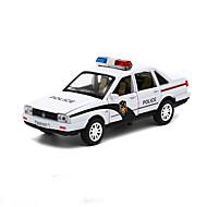 Voiture de Police Véhicules à Friction Arrière Jouets de voiture 01h32 Métal Bleu Maquette & Jeu de Construction