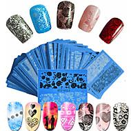 48pcs/set Hot Fashion Sweet Style Beautiful Lace Nail Water Transfer Decals Beautiful Flower Lace Nail Art DIY Beauty Beautiful Decals STZ-V01-48