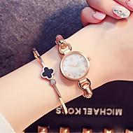 SK Damen Modeuhr Armband-Uhr Chinesisch Quartz Wasserdicht Schockresistent Legierung Band Vintage Bettelarmband Armreif Bequem Luxuriös