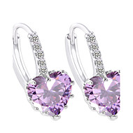 Hoop Earrings AAA Cubic Zirconia Heart Cubic Zirconia Geometric Jewelry For Party Daily Casual 1 pair