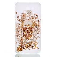 Na Etui Pokrowce Świecące w ciemności Szron Półprzezroczyste Wzór Etui na tył Kılıf Czaszki Miękkie Poliuretan termoplastyczny na Samsung