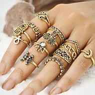 Pierścionki na palec środkowy Unikalny Postarzane Bohemia Style Stop Złe oko Biżuteria Na Impreza Halloween Codzienny Casual 1 zestaw