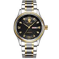 Tevise Herren Unisex Kleideruhr Modeuhr Mechanische Uhr Armbanduhr Quartz Kalender Wasserdicht leuchtend Imitation Diamant Edelstahl Band
